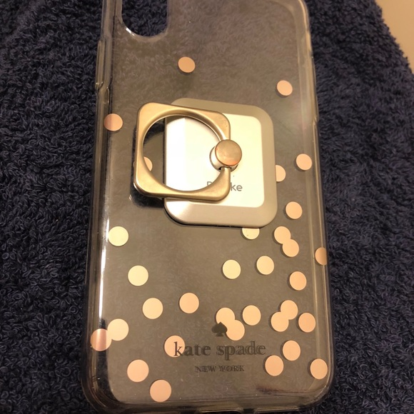 best service fb0e4 2b928 Kate Spade iPhone X case with ring
